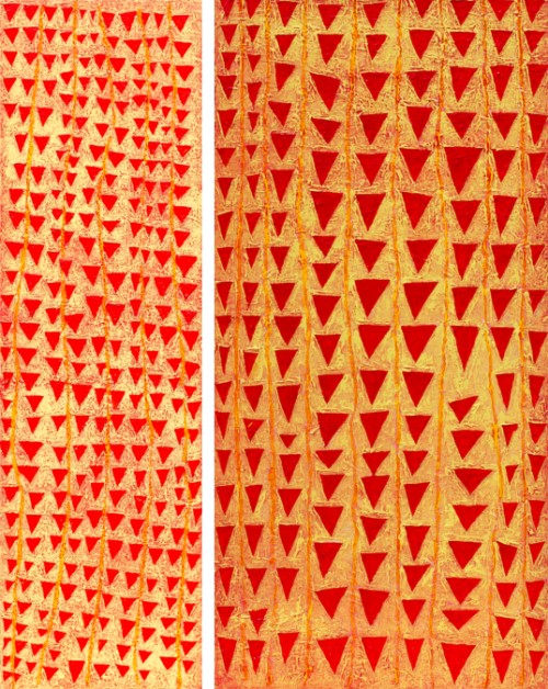 Compositie Driehoeken tweeluik