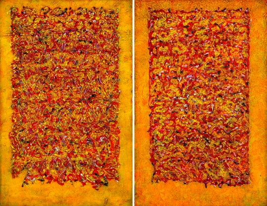 Vierkant verticaal tweeluik