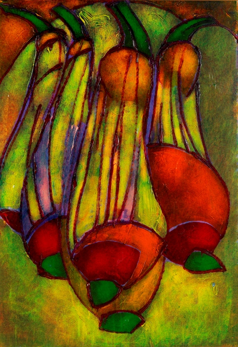Kalebassen en herfstfruit